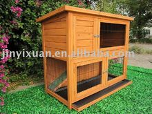 Weather proof rabbit hutch with tray
