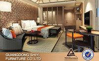 2015 Luxury Modern bedroom furniture/5 Star Wooden Hotel bedroom set