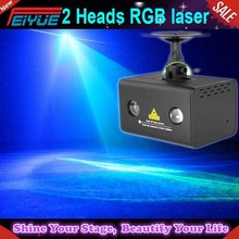 2 heads mini laser stage lighting in red and green mini rgb laser light for wedding show party