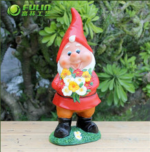 """Outdoor Resin Dwarf Statues 10.8"""""""