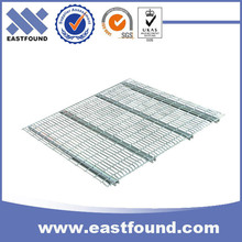 Welded zinc finish metal shelf expanded steel wire decking for step beam