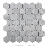 hexagon mosaic tile cheap price popular design garden outdoor sink