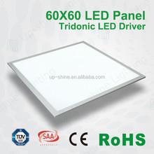 Top quality Flat Panel, White or Silver Aluminum Frame 100-240 AC 50/60Hz 60x60 Office LED Lights LED Panel Light