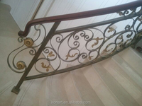 Outdoor iron stair /wrought iron stair railing