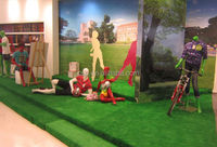 2015 Landscaping artificial grass/synthetic grass turf for showroom landscaping