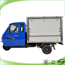 heavy duty cargo tricycle cabin closed with enclosed box