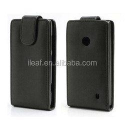 Hot Selling Cheap Vertical Magnetic Flip Leather Case Cover for Nokia Lumia 520