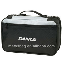 Weekend Toiletry Bag features mesh and diamond ripstop nylon
