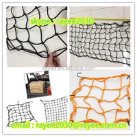 Trailer Cover Net , 6mm twine trailer elastic CARGO NET with hooks, correas red de carga/sangle filet a bagages