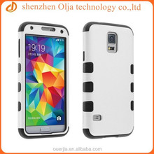 3 in 1 durable pc silicone case for samsung galaxy s5 i9600