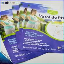 Varal de piso 105gsm C2S sample leaflet