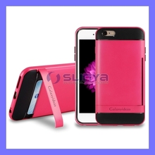 Kickstand Shock Absorption Dropproof Card Wallet Cell Phone Case For iPhone 6 Plus