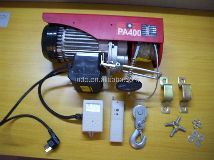 Paranco elettrico con telecomando distanza pannelli for Argano elettrico 220v con telecomando