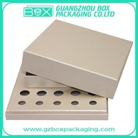 silver essencial oil cardboard box