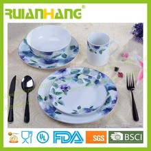 16pcs porcelain blue flower dinnerware sets, home brand dinnerware set