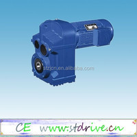 F series Parallel shaft solid shaft helical gearbox with motor unit for industry field