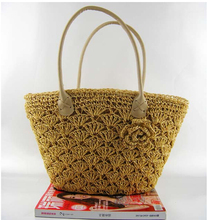 New 2015 Hot Selling Natural Material Sea PP Straw Lady Beach Bag