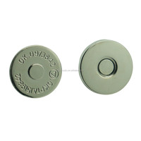 High quality 12mm round thin magnetic snap button magnetic button