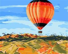 fire balloon diy oil painting by number 2015 factory hot selling picture GX6765