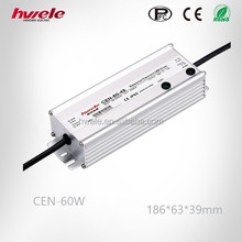 Hot selling item CEN-60W lighting switching power supply waterproof PFC high efficiency with CE ROHS KC approved high warranty