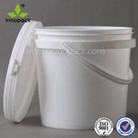 10L white PP plastic paint packing bucket