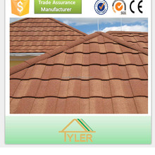 lightweight long lifespan colorful stone coated roofing tile