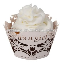 Baby Shower Decorations For Cupcake Laser Cut Cupcake Wrapper Muffin Cases Wrappers Cake Decorating Tools