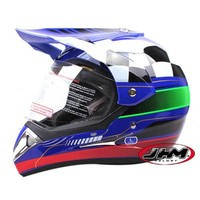 ATV motocross helmet with clear visor