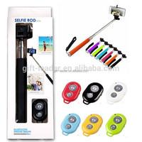 monopod selfie stick with bluetooth remote shutter