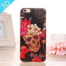 Customized UV printing 3D engraved cell phone case for iphone 6