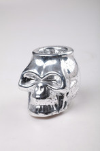 luxury mercury Skull borosilicate glass candle holder by man made for festival