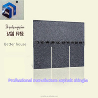 High qualtiy competitive price fiberglass modified bitumen 3-tab asphalt roofing shingles