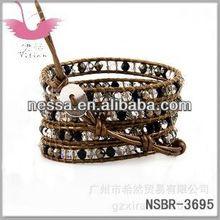 2012 new leather wrap bracelets
