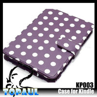 Kindle Paperwhite Leather Case,Polka Dot Kindle Cover Paperwhite with Wake/Sleep Function