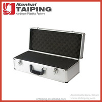 Lockable Silver Aluminum Hard Shell Camera Lens Case for Electronic Equipement