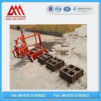 QMJ2-45 concrete block machine moulds manual brick making machinery for sale