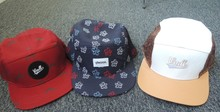 All over printing woven label custom 5 panel camper hat
