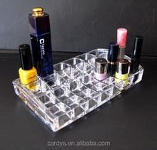 Acrílico de plástico caja de almacenamiento de uñas esmalte de uñas esmalte