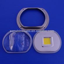 50w 100w 200w led asféricos lente de vidrio fabricante