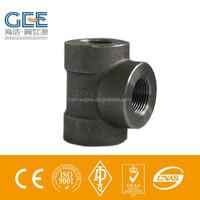 carbon steel pipe fittings Tee NPT thread