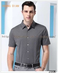 2015 Fashion Block Color Dot Men Short Sleeve Shirt /High Quality Printing Shirts For Men