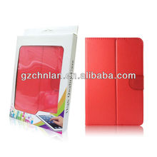 leather case for 7 inches tablet pc