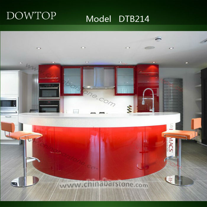 Curved Red Home Bar Counter Wooden Bar Counter With Quartz Table Top Buy Curved Bar Counter