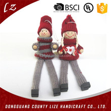 2015 wooden christmas boy and girl decoration