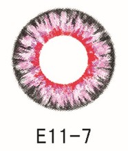 Pink big size contactlens with cute contact lens cases