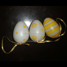 Colorful plastic easter egg 6*4cm for Easter day gift for sale