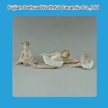White porcelian ceramic home decoration with ballet girl design