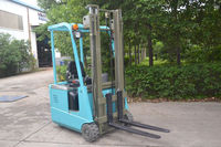 China Anhui Mini type small turning 3-wheel electric forklift truck TKA15 to work at narrow warehouse best for you