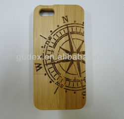 For Apple iPhone 5 Bamboo back Cover! Wholesale Natural Real Solid Bamboo cover for Iphone