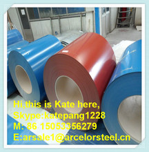 o.9mm thickness PPGI /prepainted galvanized steel coils price